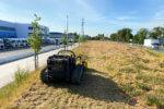 Landschaftspflege: Mulcharbeiten mit der Mähraupe
