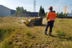 Landschaftspflege: Einsatz der ferngesteuerten Mähraupe
